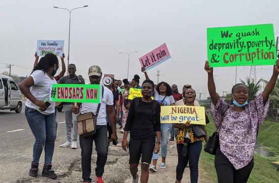 Protesty w Nigeria pod hasłem EndSARS